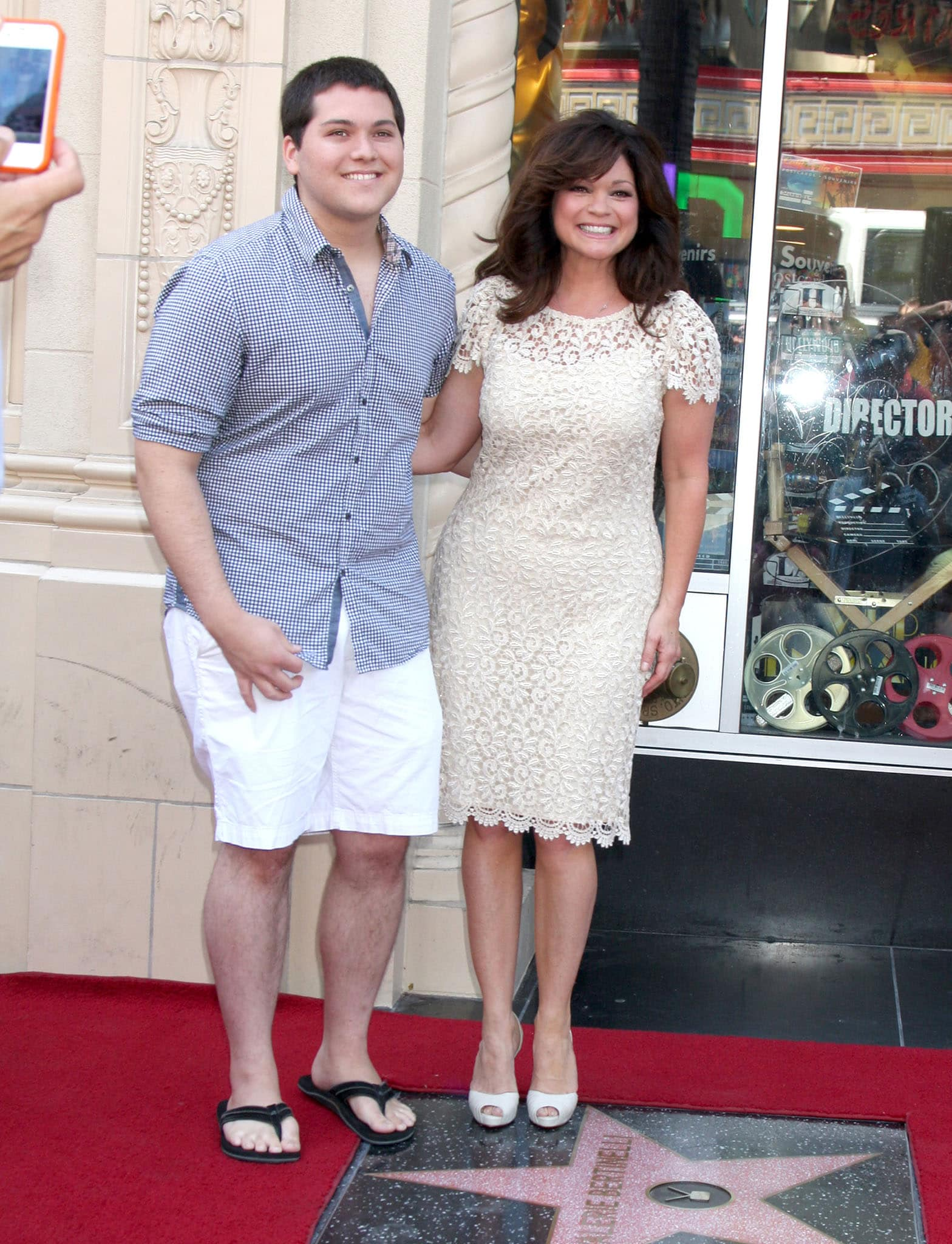 Eddie Van Halen's son Wolfgang and ex-wife Valerie Bertinelli honored with the 2,476th star on the Hollywood Walk of Fame on August 22, 2012
