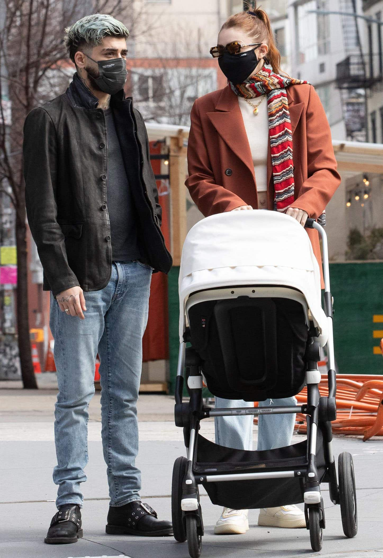 Zayn Malik, Gigi Hadid, and their daughter, Khai Hadid Malik, step out together for the first time in New York City