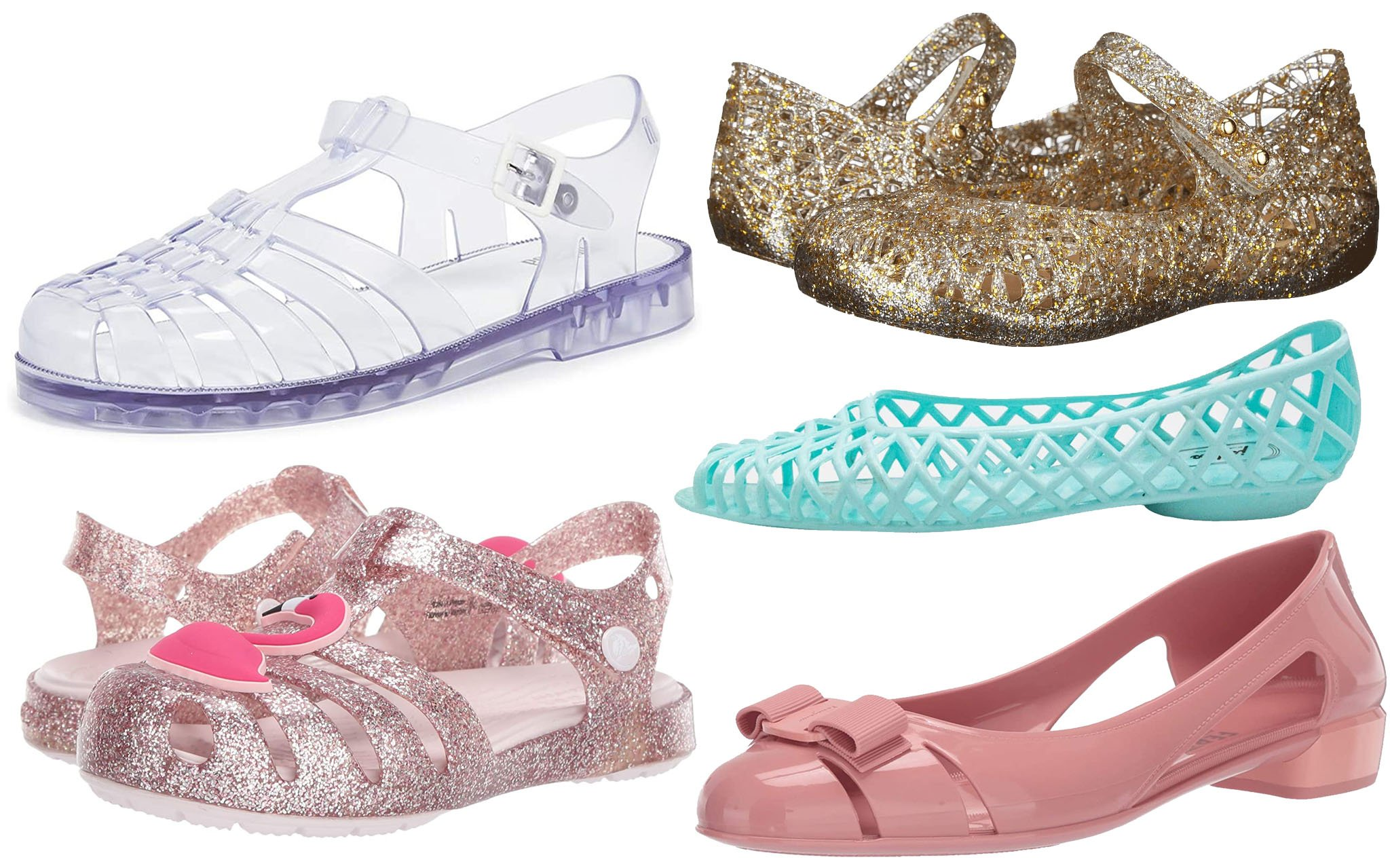 Stylish, cute, and waterproof jelly shoes for women and kids