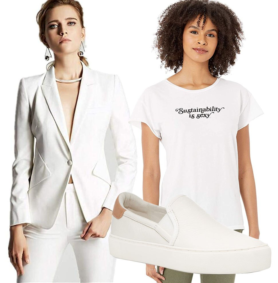 Red Women's Trouser Suits, Vitamin A Sustainability Is Sexy Tee, UGG Cahlvan Slip-On Sneakers