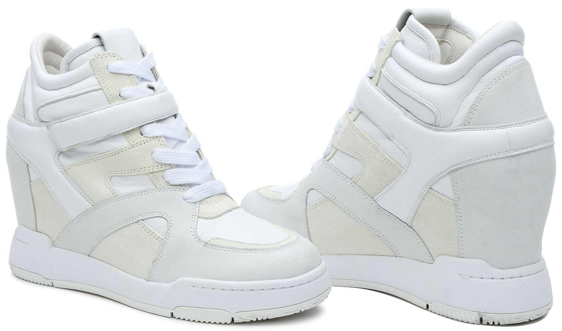 Give off cool-girl vibe with '90s-style wedge sneakers
