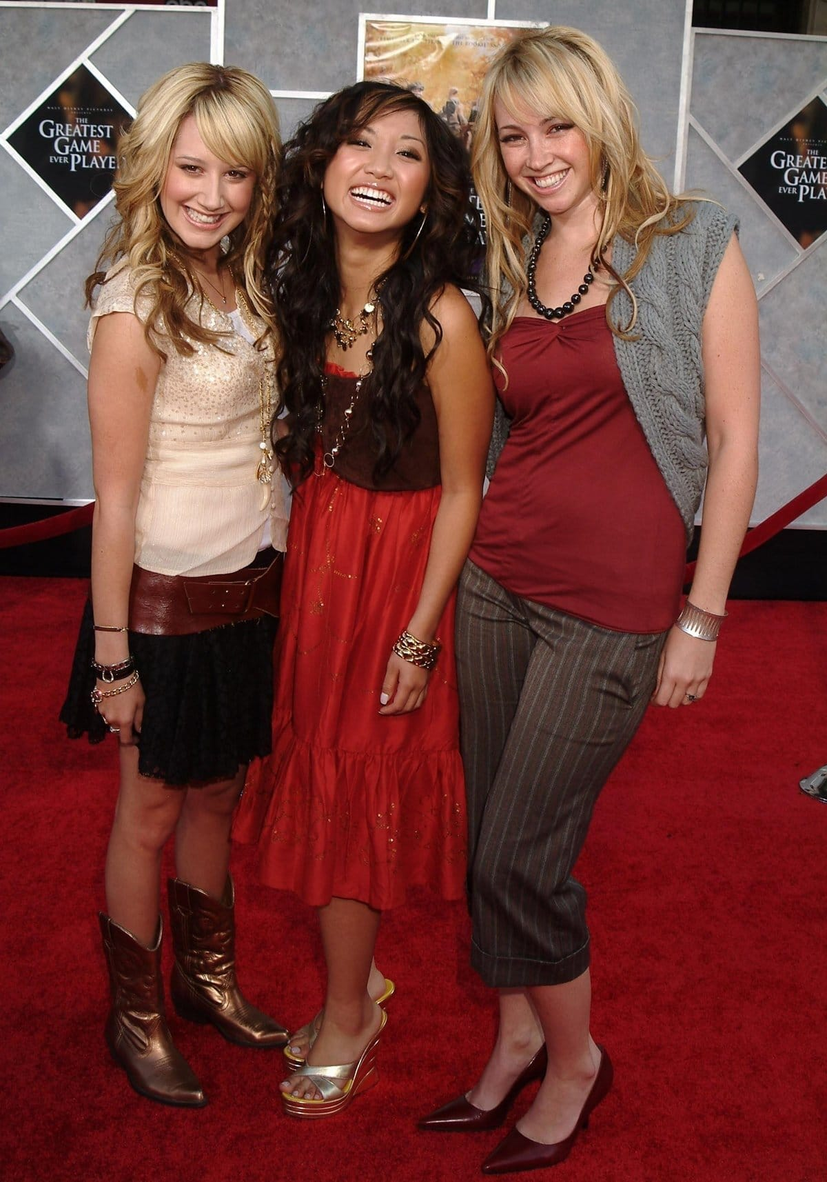 Ashley Tisdale, Brenda Song, and Jennifer Tisdale at the premiere of The Greatest Game Ever Played