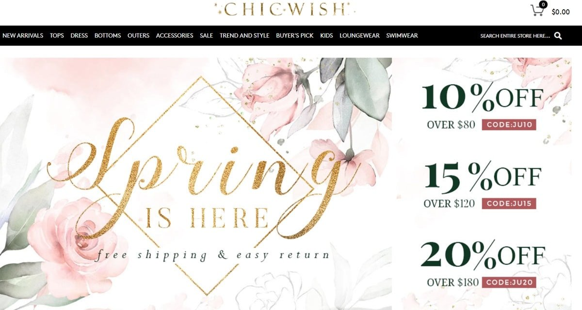 Chicwish is a scam retailer operating out of China