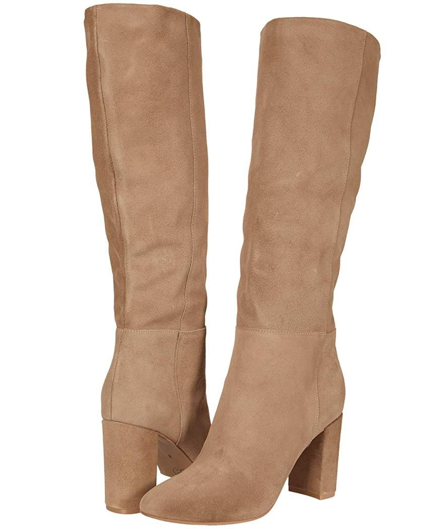Create a leg-lengthening look with neutral-colored knee-high boots like Chinese Laundry's Krafty boots
