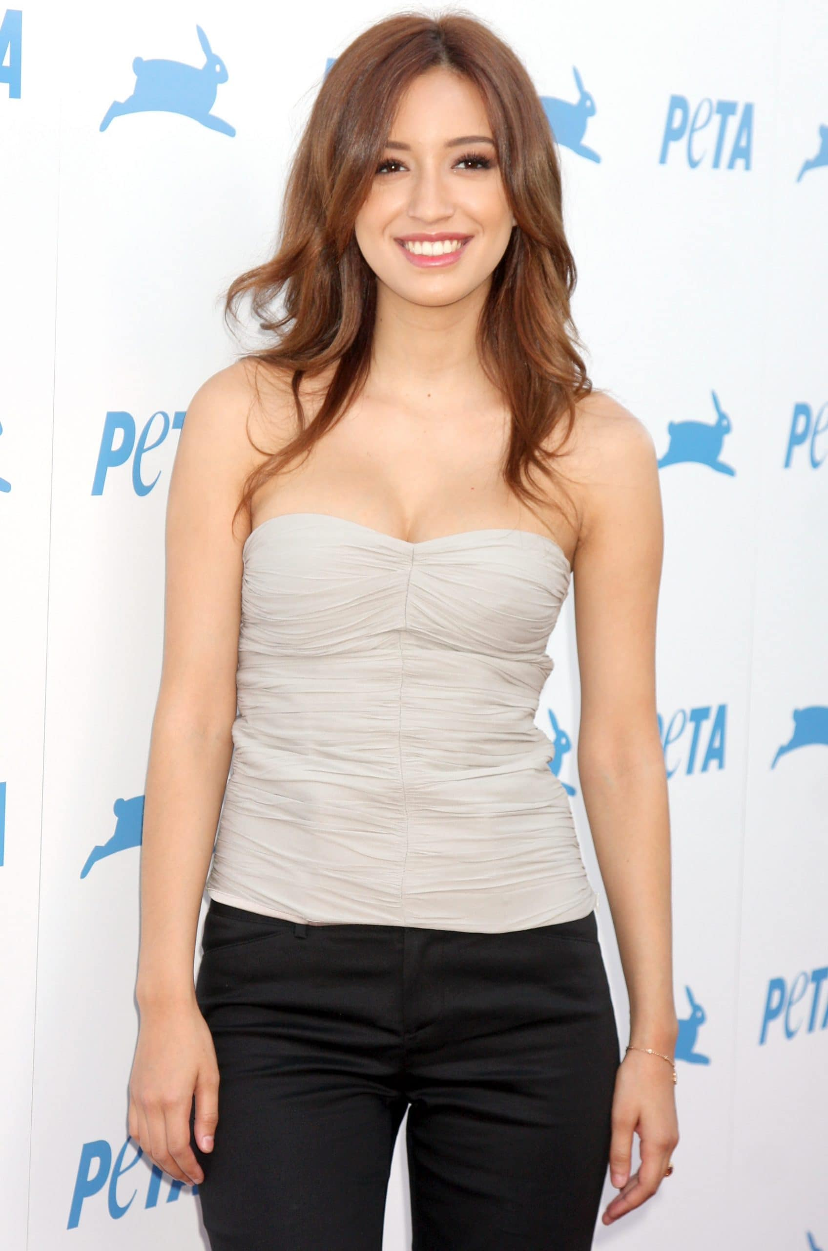 Animal rights activist Christian Marie Serratos has posed for a number of PETA campaigns promoting a vegan lifestyle