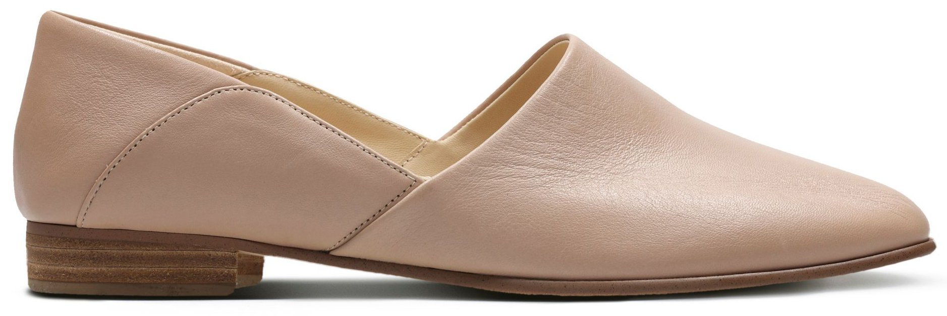 Clarks' Pure Tone features a streamlined upper and a sleek silhouette made from smooth leather