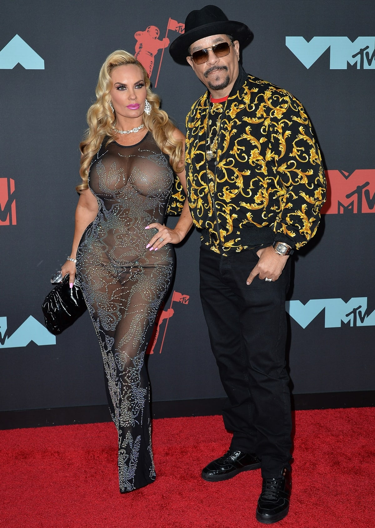 Coco Austin and her husband Ice-T attend the 2019 MTV Video Music Awards