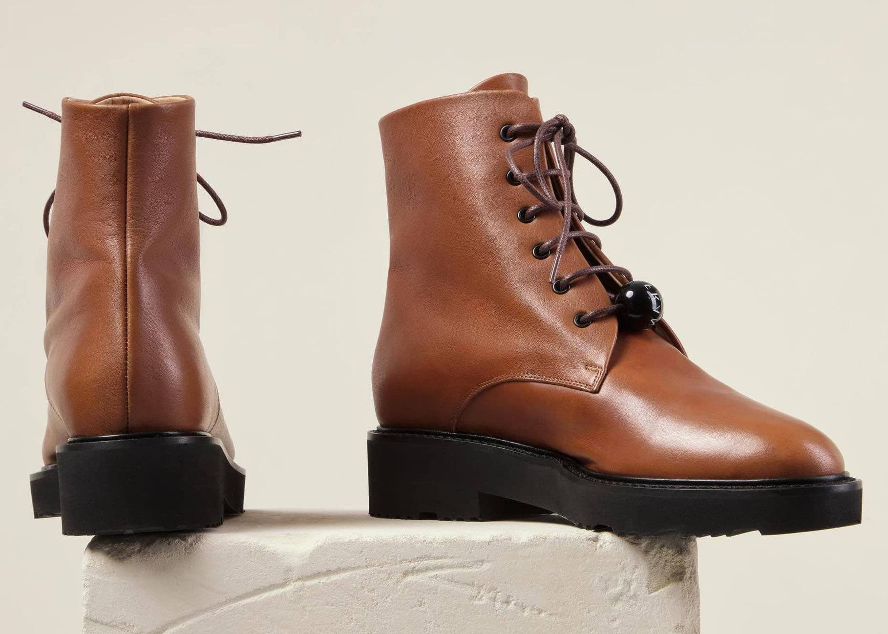 The Dear Frances Park features supple leather upper with sturdy chunky rubber sole