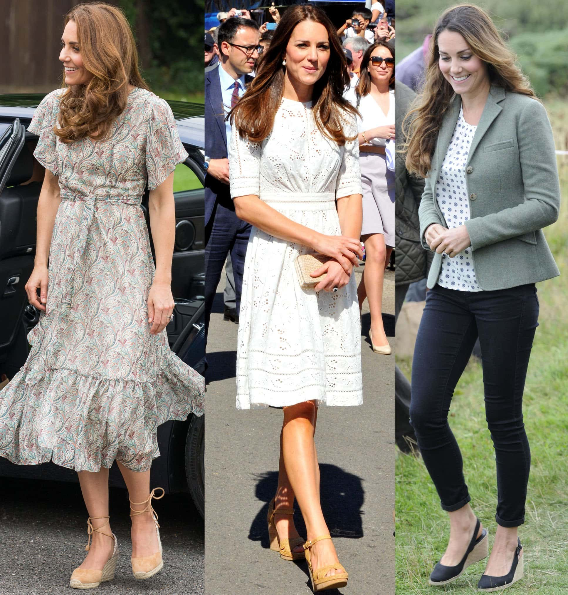 Duchess of Cambridge, Kate Middleton, has a penchant for wedge shoes