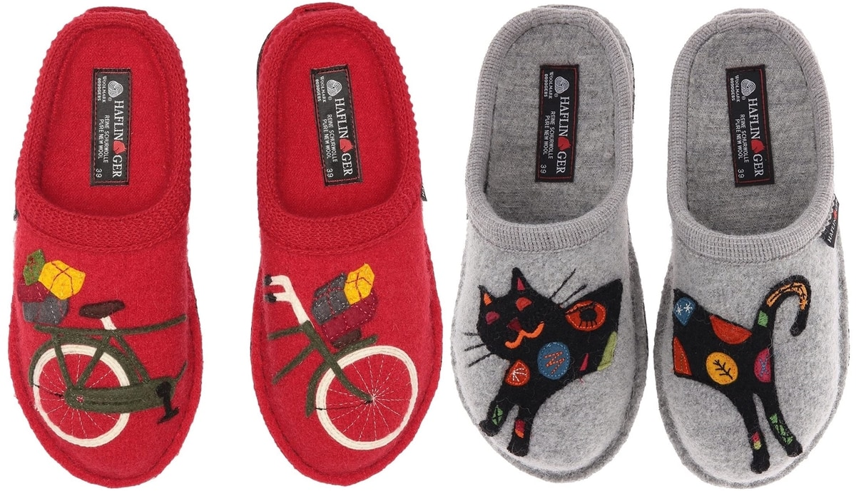 Haflinger is famous for its boiled wool slippers and fun slipper designs