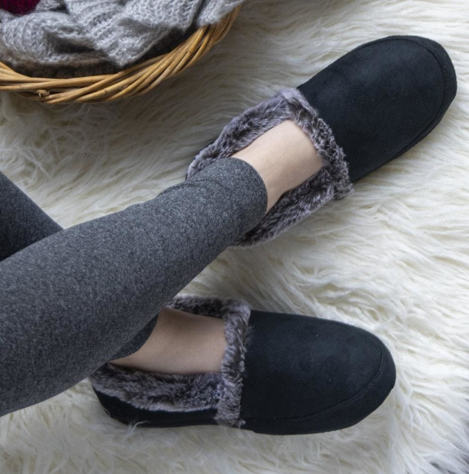 Made from recycled water bottles, Isotoner's ECO Comfort Fabric slipper is built to last so you can enjoy them for seasons to come