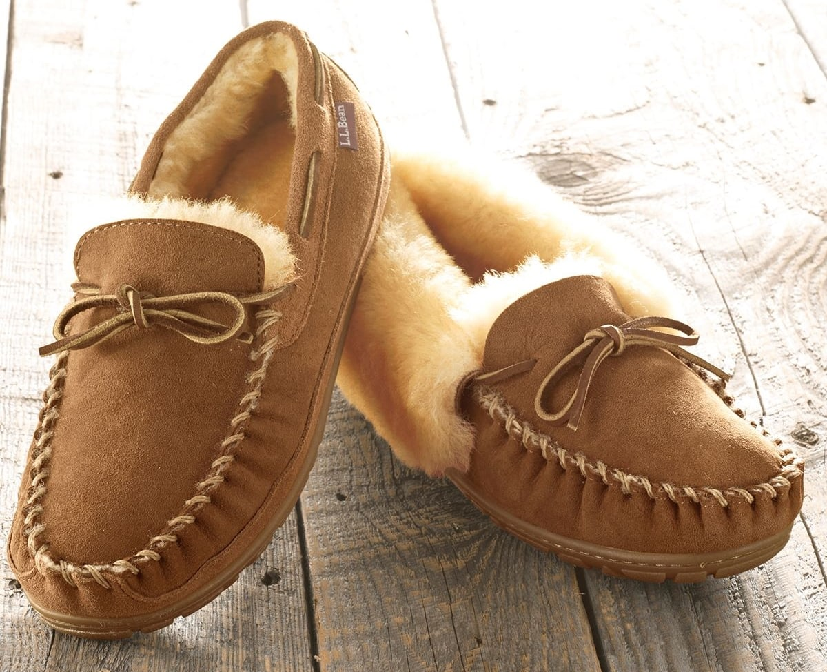 L.L.Bean's slippers are made of superior sheepskin to keep your feet warmer on chilly mornings