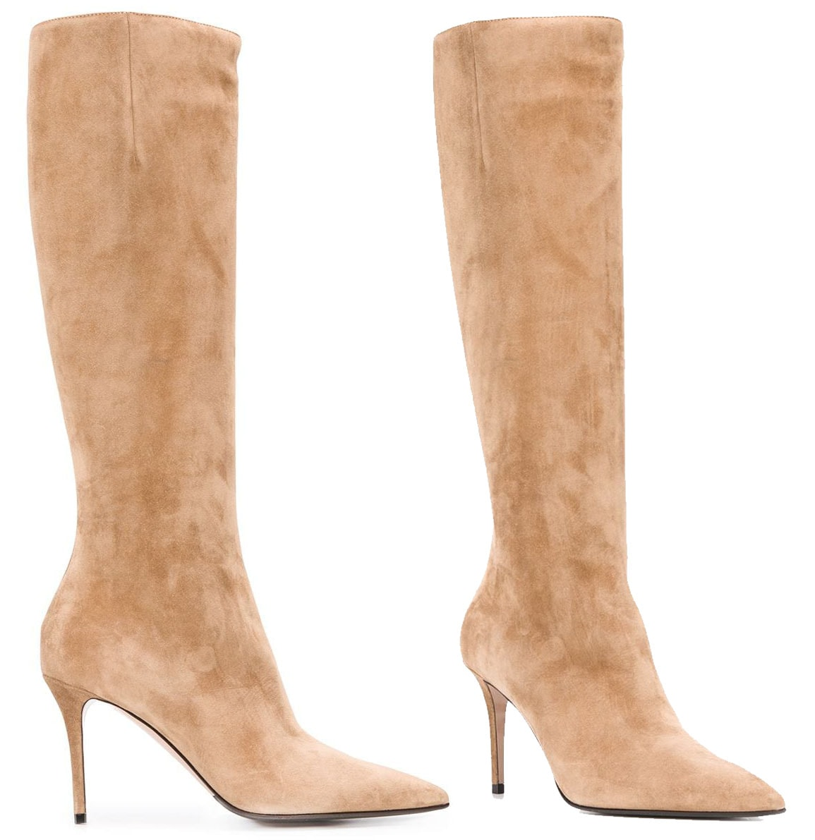 Add height to your look with these Le Silla Eva stiletto boots in leg-lengthening neutral tone
