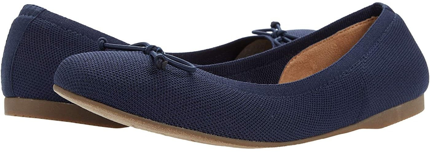 Me Too's Harmony is a timeless knit ballet flat made from an eco-conscious engineered mesh fabric that forms to the shape of the foot