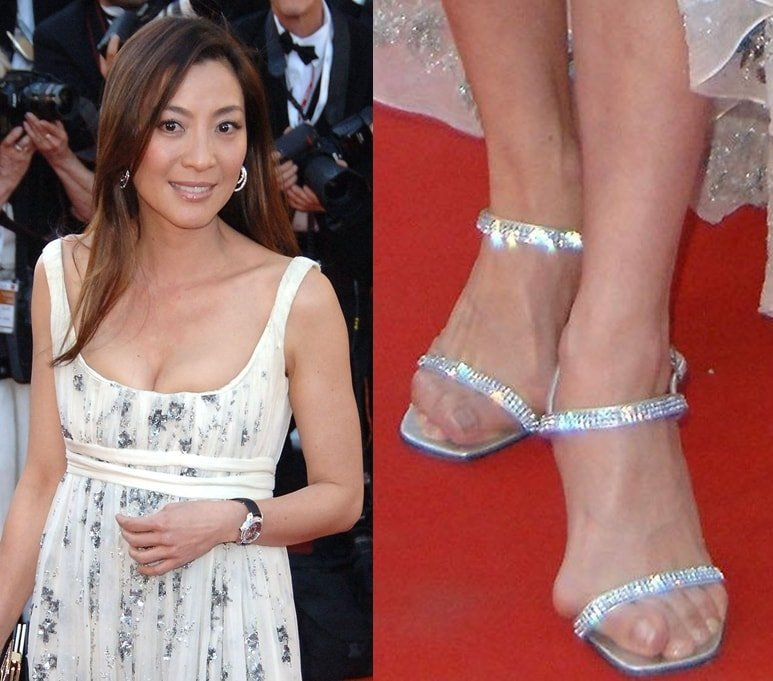 Michelle Yeoh shows off her size 5 (US) feet in Cannes