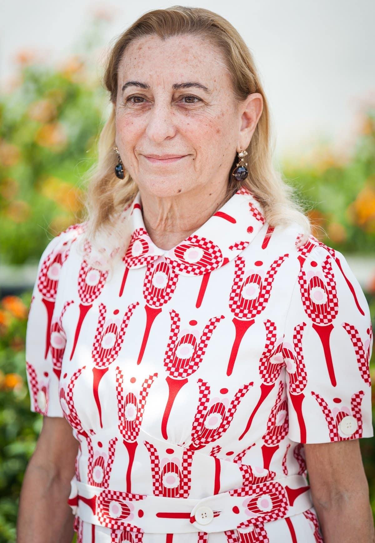 Miuccia Bianchi Prada, the head designer of Prada and the founder of its subsidiary Miu Miu, is the youngest granddaughter of Prada's founder Mario Prada