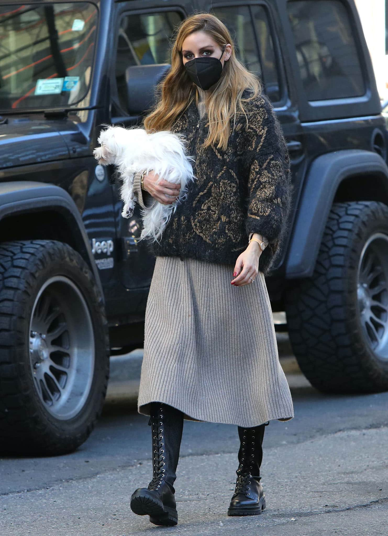 Olivia Palermo shows how to seamlessly transition from winter into spring in Brooklyn with Mr. Butler