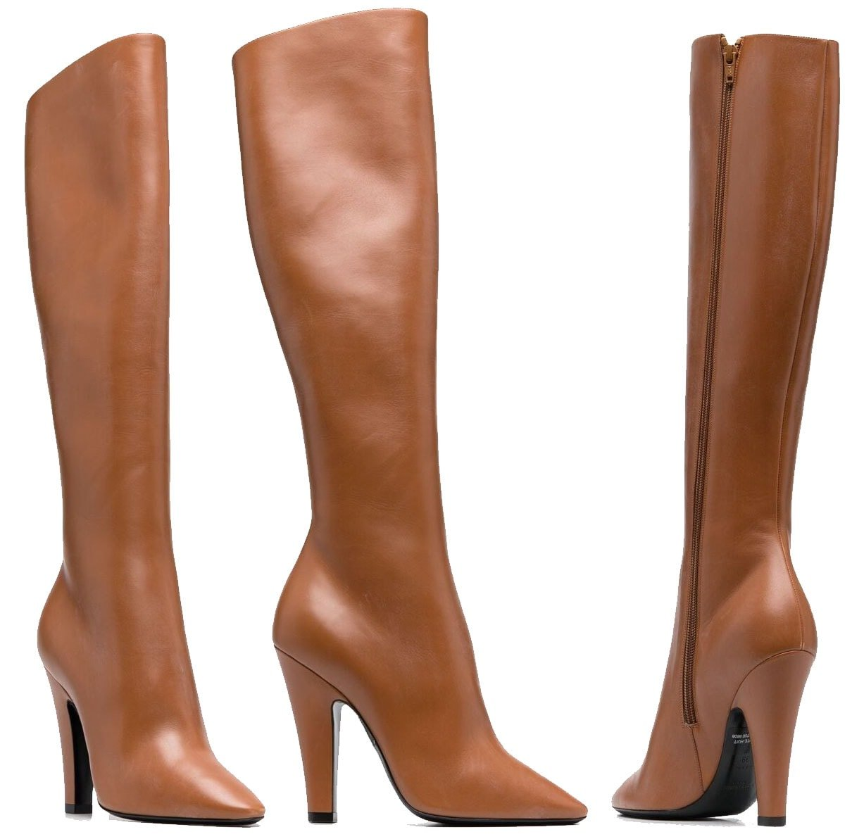These Saint Laurent knee-high boots fit perfectly around ankles and are comfy around the shafts and knees