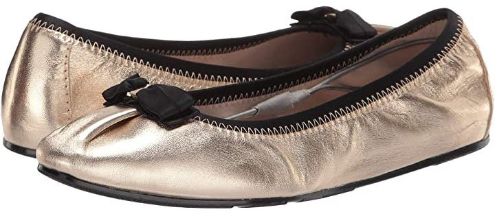 The Salvatore Ferragamo Joy also has comfy round toes and a lightly padded leather footbed