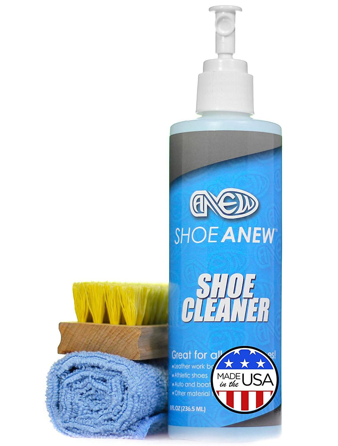ShoeAnew's shoe cleaner kit is easy-to-use, environment-friendly, and perfect for all types of shoe materials
