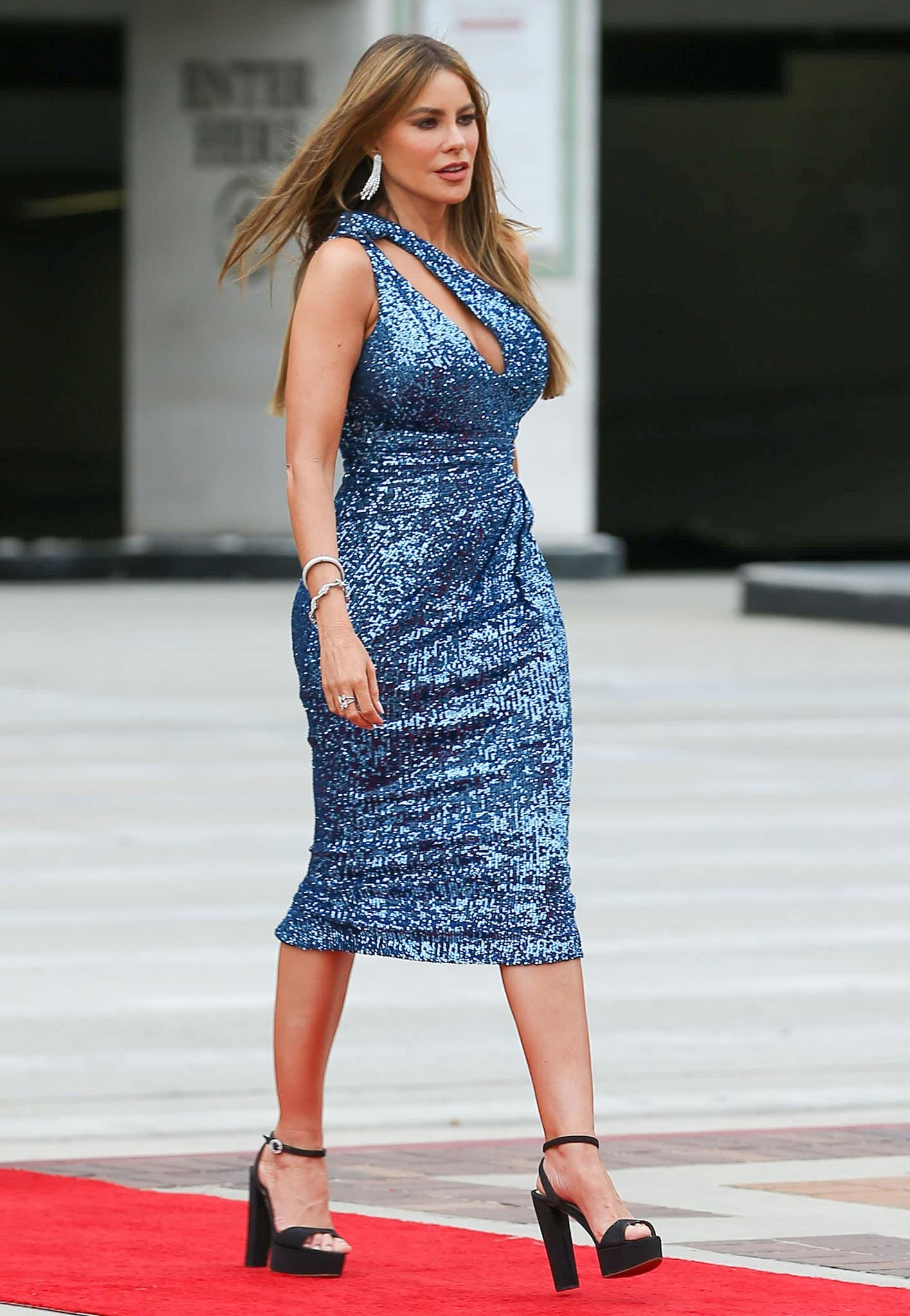 Sofia Vergara dresses up in Pamella Roland sequin dress for America's Got Talent taping on April 23, 2021