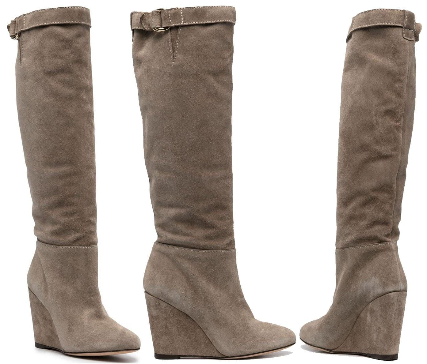 A pair of wedge boots should give a chic and comfy finish to any winter outfit
