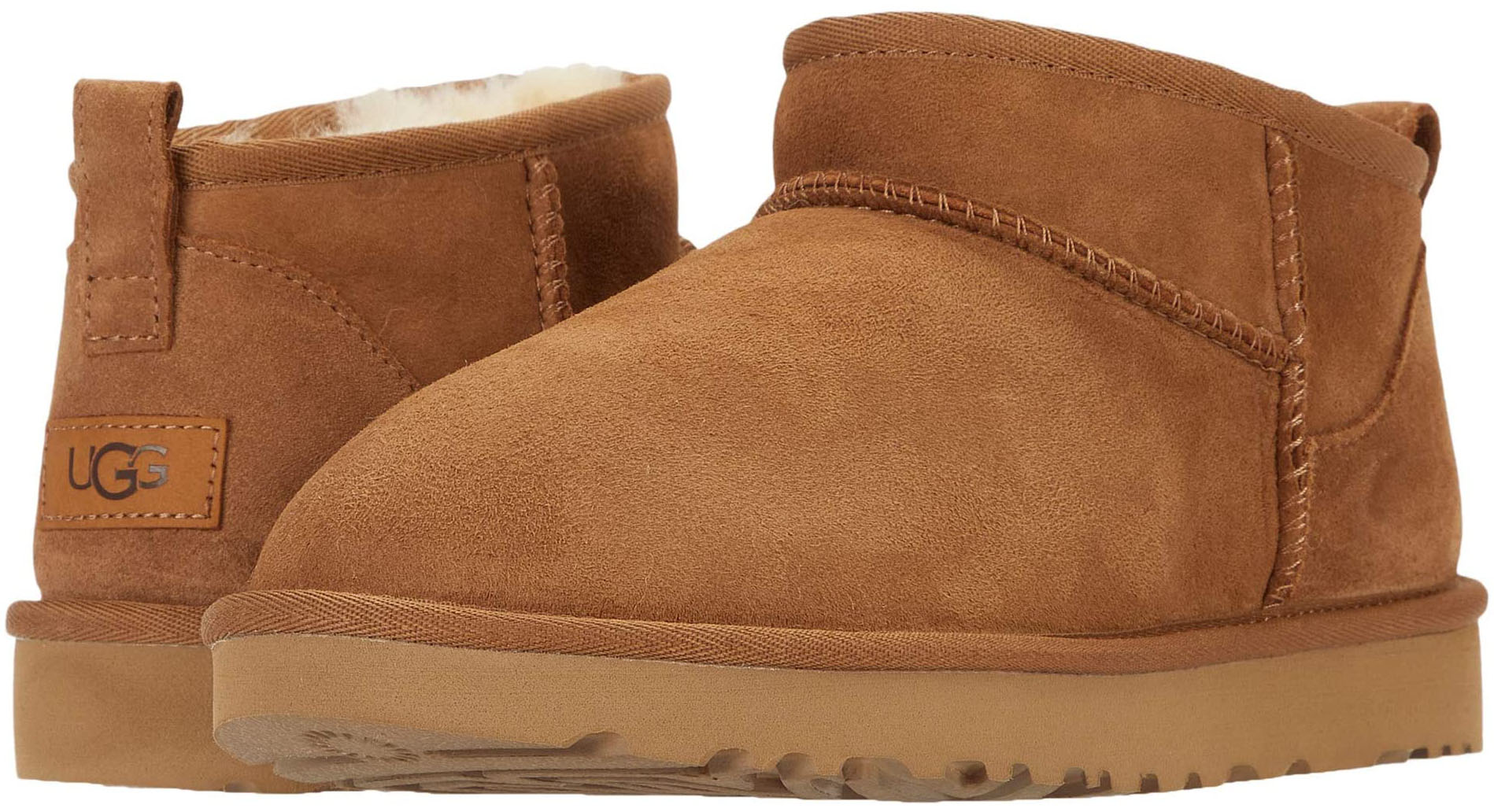A cute and cozy slip-on bootie with water-repellent sheepskin upper and UGG Treadlite outsole