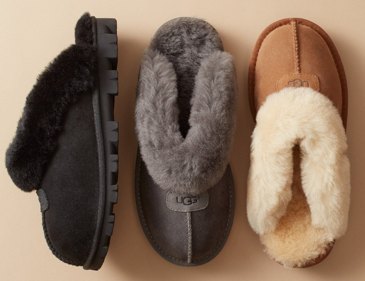 Genuine shearling lining creates superior softness and warmth in this open-heel slipper