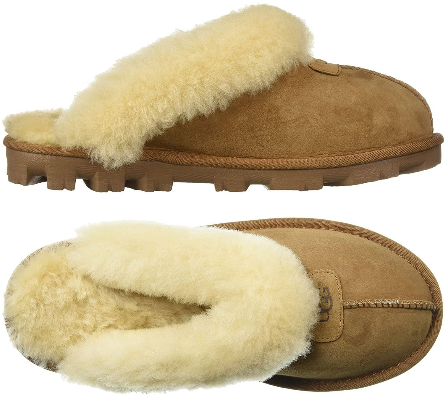 The Coquette is one of UGG's most popular slipper silhouettes featuring a Twinface sheepskin upper and a sheepskin insole