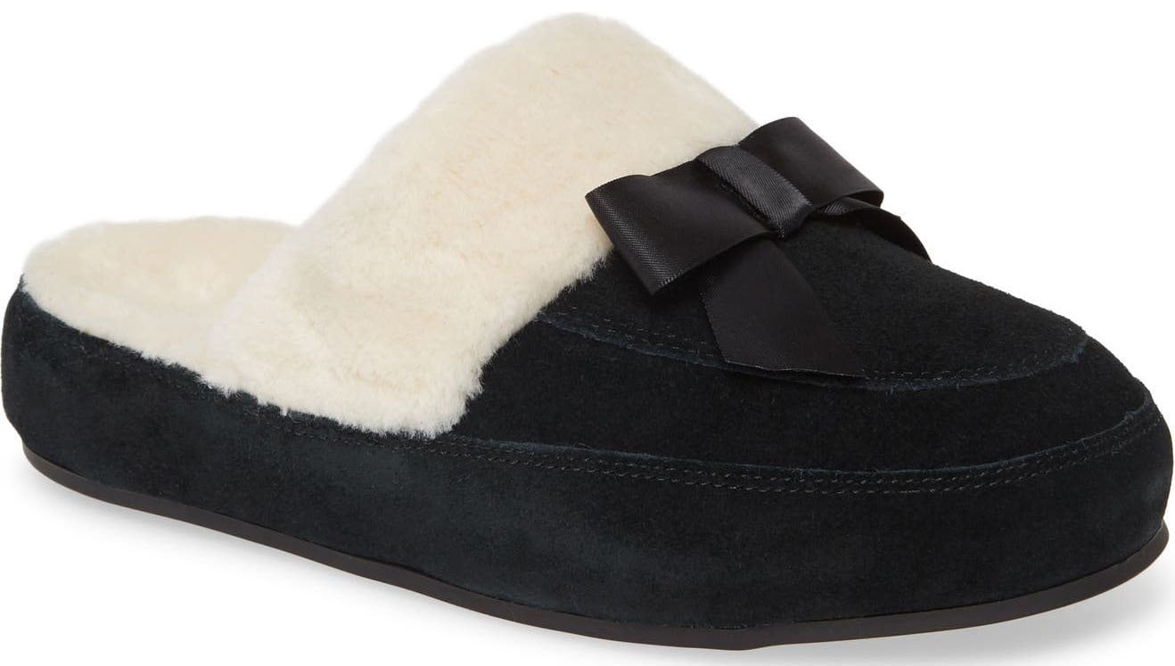 The Vionic Nessie is an easy slip-on slipper that has the label's signature orthotic footbed for support and comfort