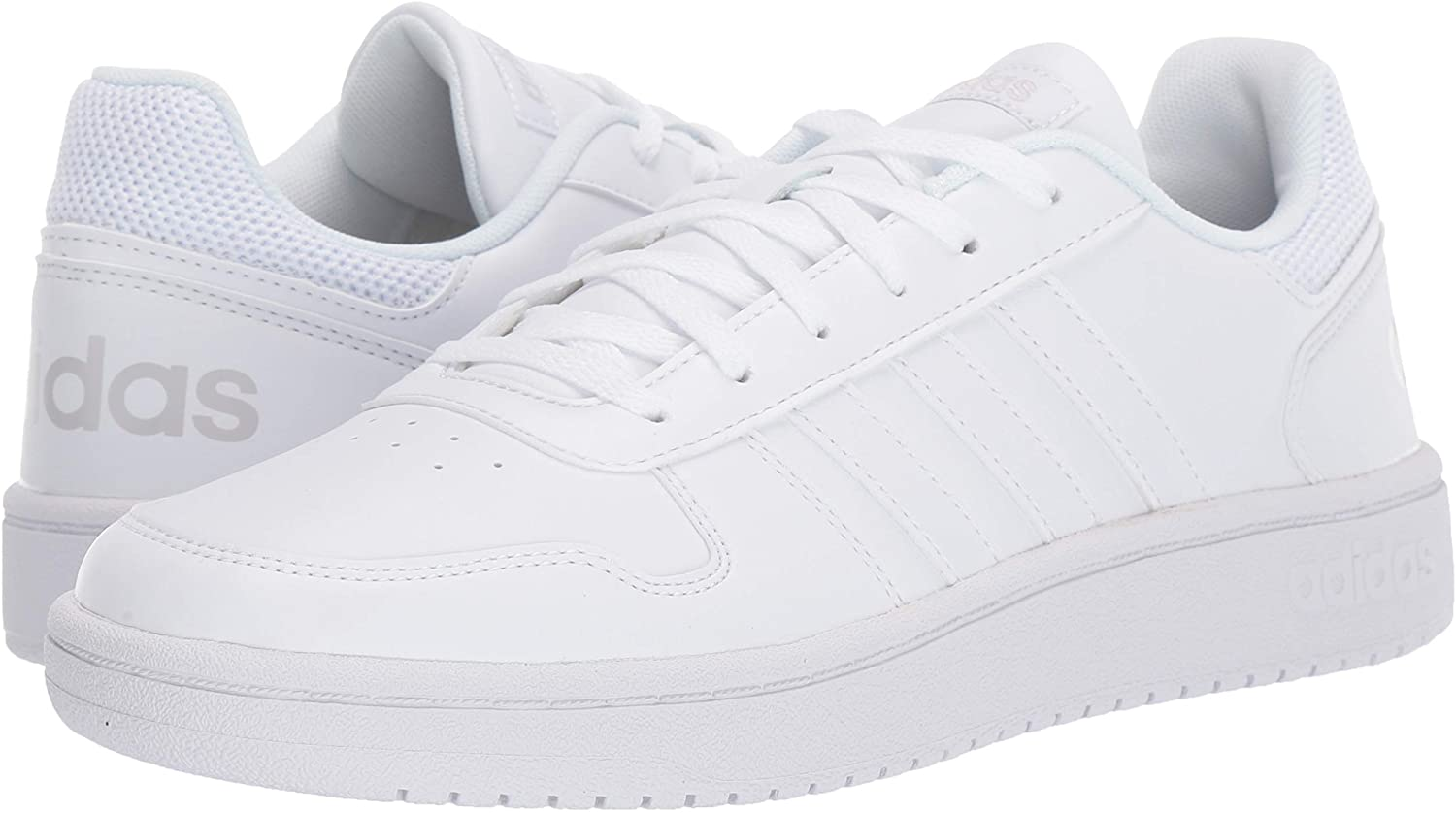 Basketball-style court sneakers made from synthetic material with mesh collar and rubber sole