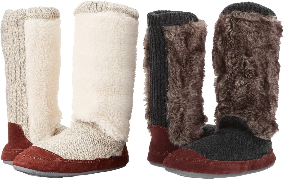 These slipper boots from Acorn are the epitome of warmth and softness