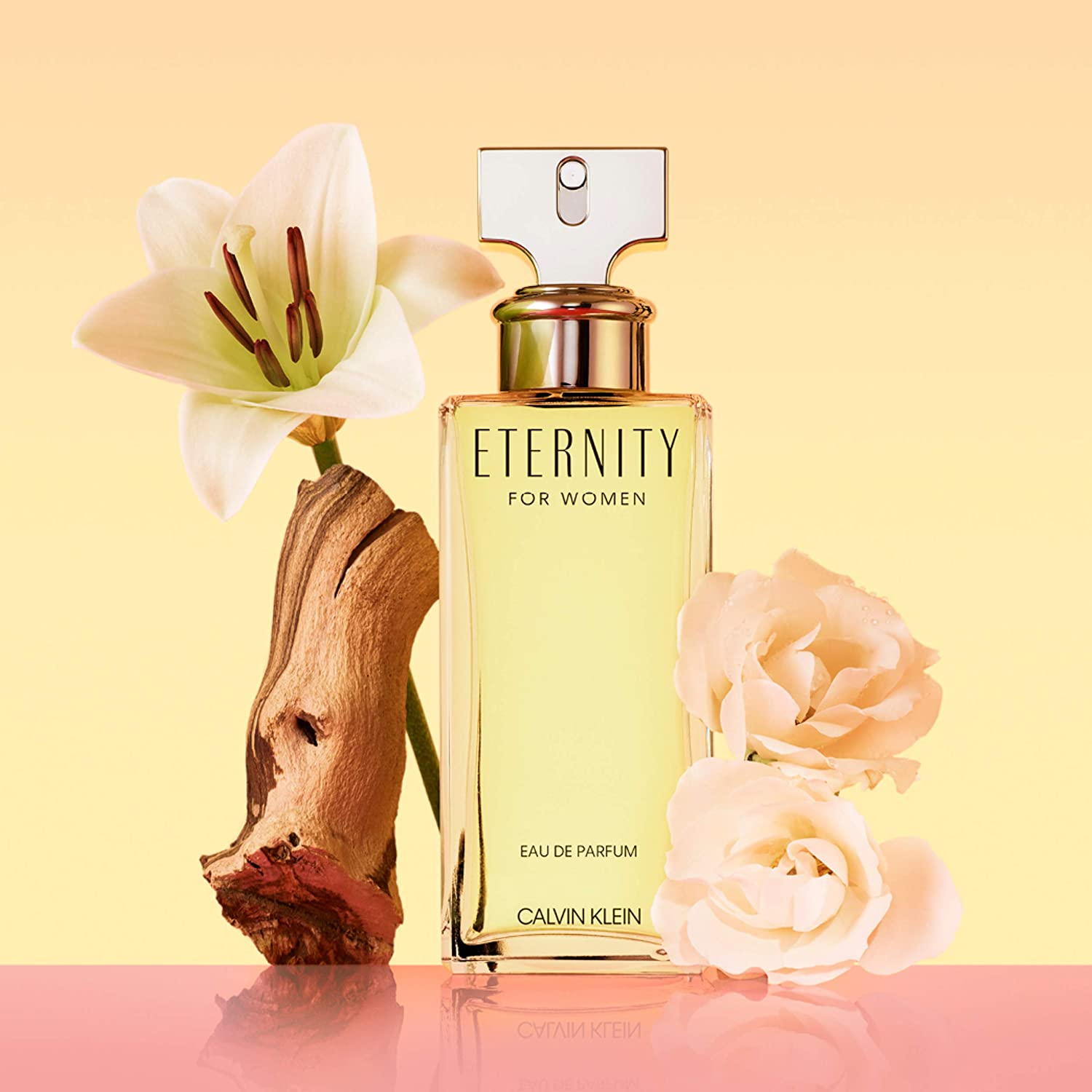 A floral fragrance launched in 1998, designed as a tribute to Calvin Klein's marriage
