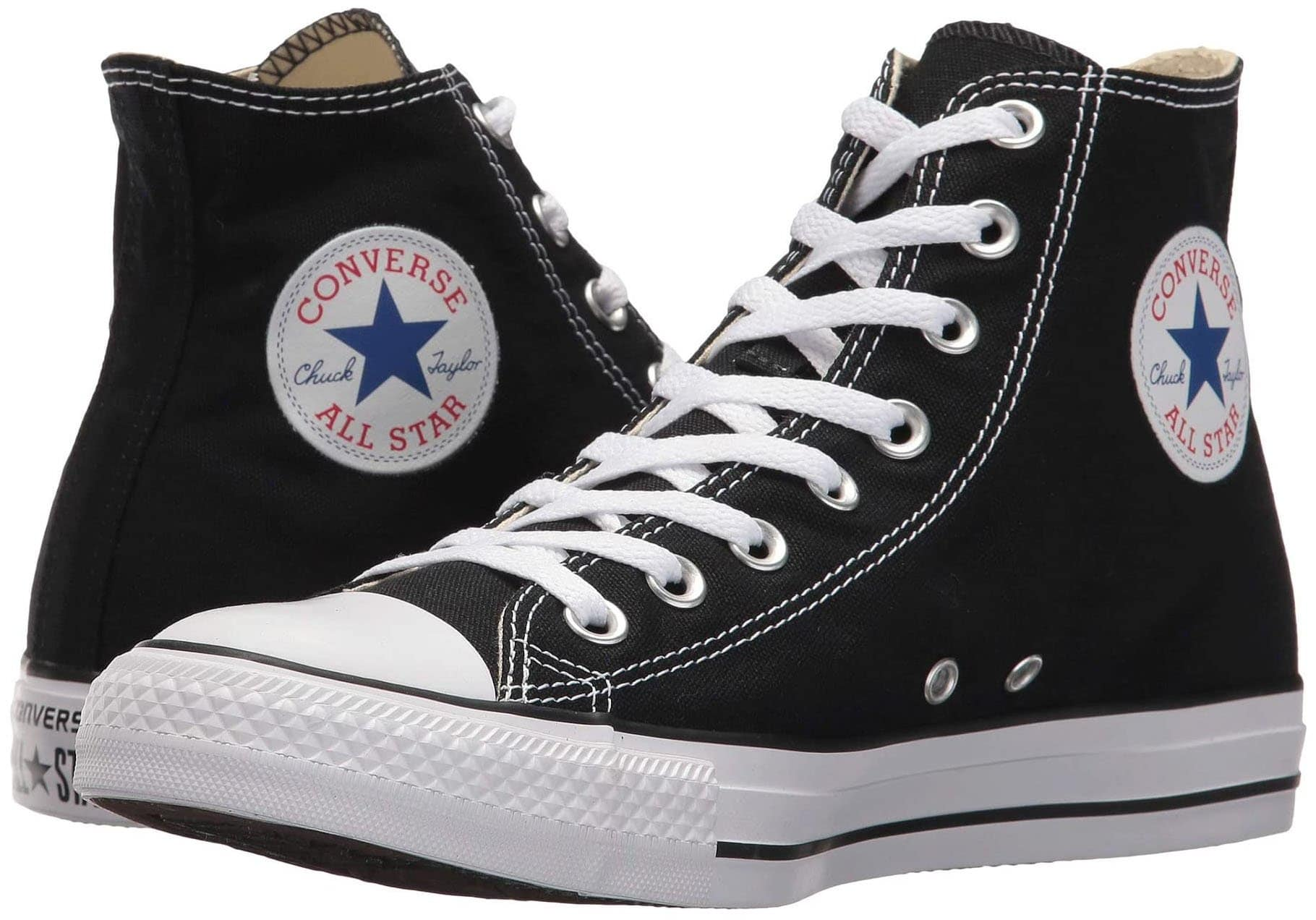 Black/white round toe Chuck Taylor All Star Lift Hi sneakers