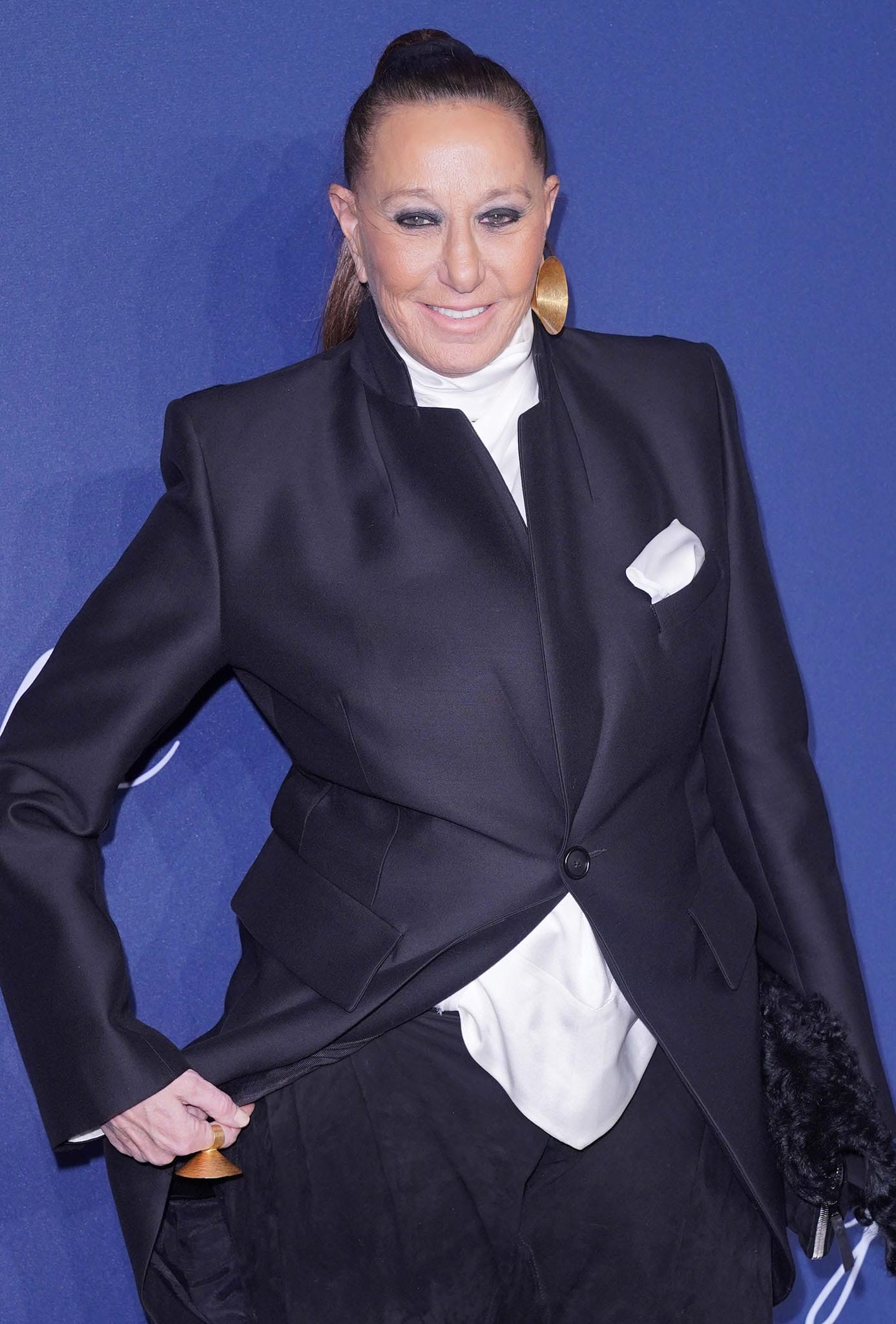 Donna Karan at the amfAR 2020 Gala in New York City on February 5, 2020