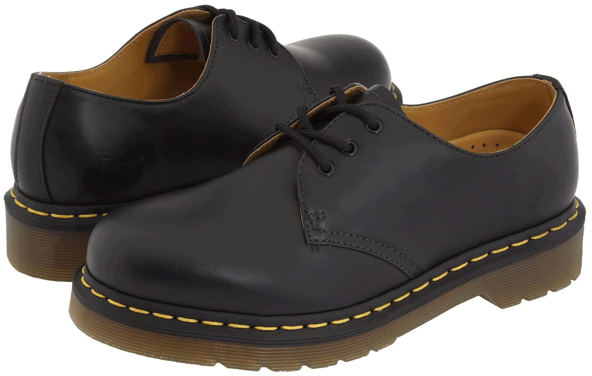 Dr. Martens 1461 Gibson oxfords feature a smooth leather upper with classic Doc's DNA