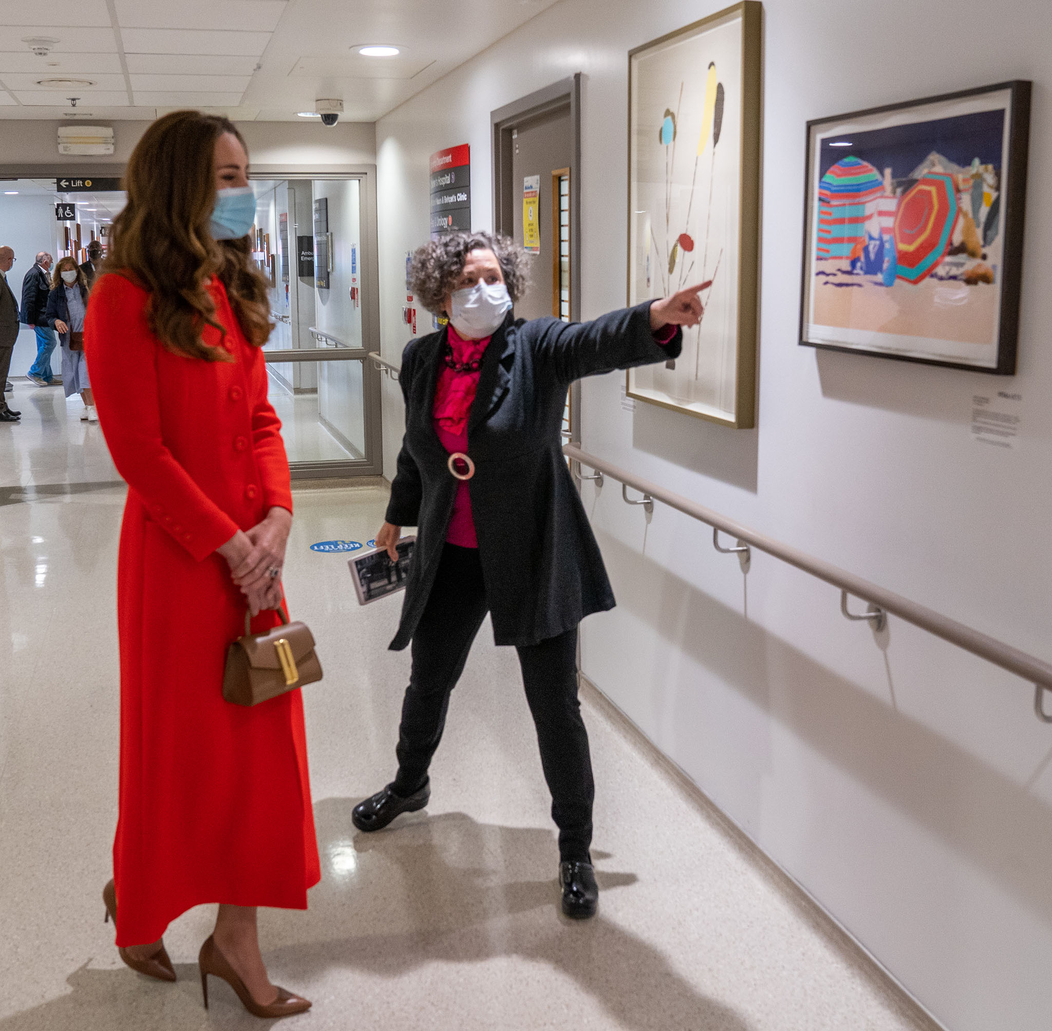 Duchess of Cambridge Kate Middleton visits the National Portrait Gallery to celebrate the launch of her Hold Still book on May 6, 2021