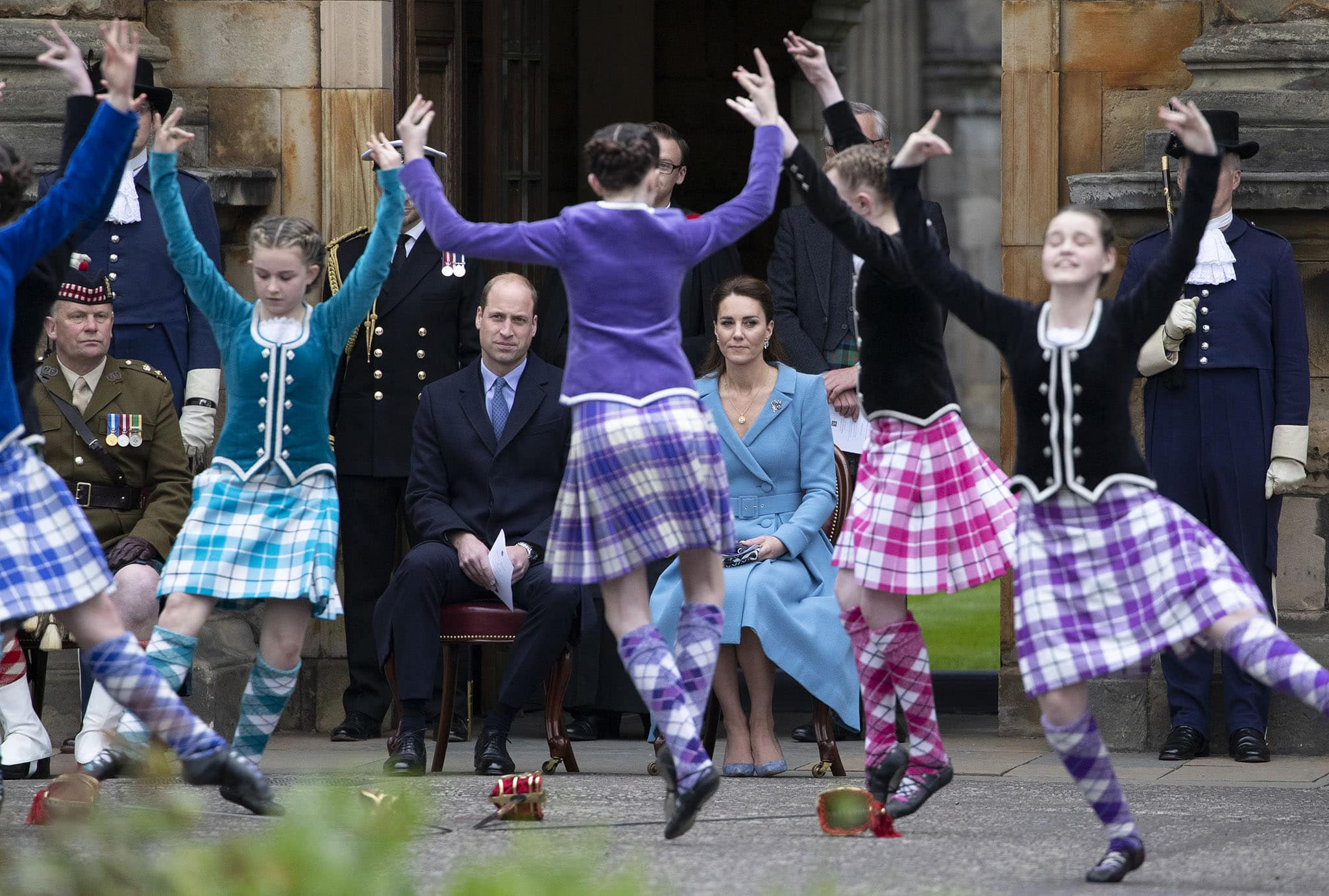 Prince William and Kate Middleton attend Beating Retreat Ceremony at the Palace of Holyroodhouse on May 26, 2021