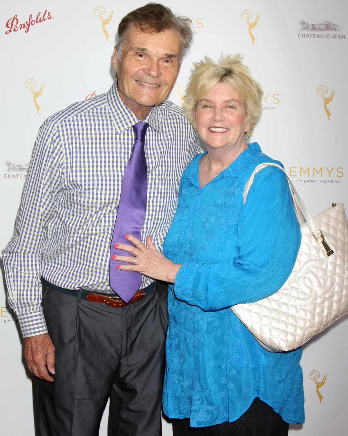 Actor Fred Willard and his wife Mary Willard attend a cocktail reception hosted by the Academy of Television Arts & Sciences celebrating the Daytime Peer Group