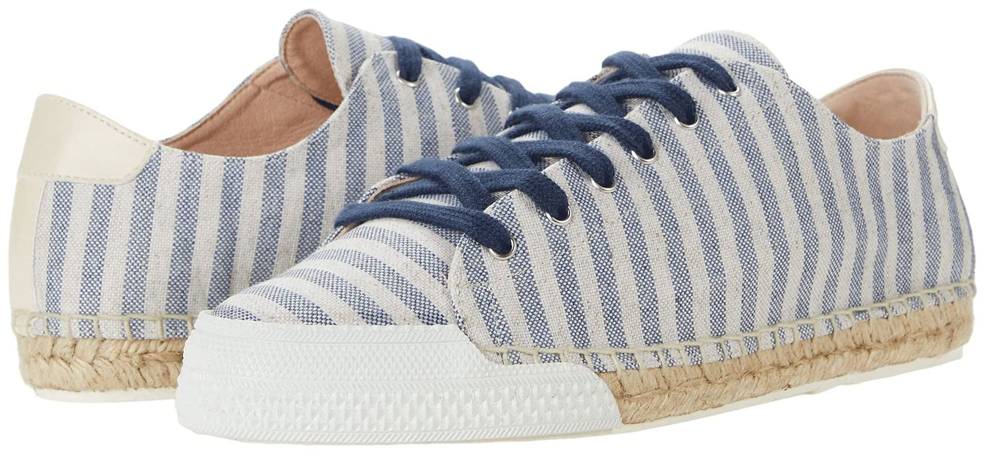 A pair of handcrafted, hand-dyed sneakers with reinforced toe bumpers and jute-wrapped soles