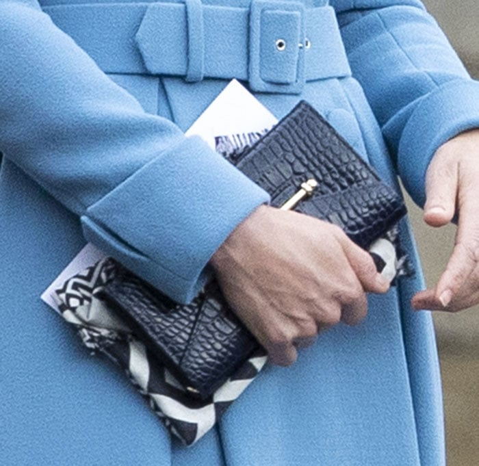 Kate Middleton carries a croc wallet from royal-approved Strathberry accessories brand