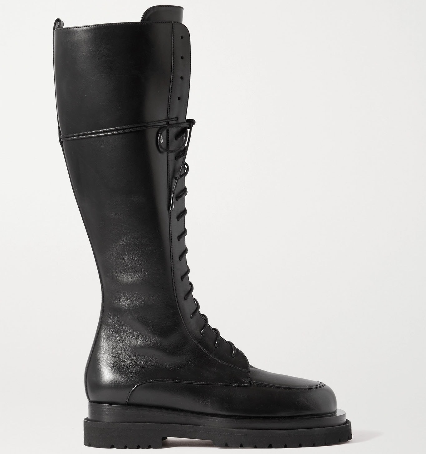 Magda Butrym's best-selling pair features side zips, lace-up closure, and thick lug soles
