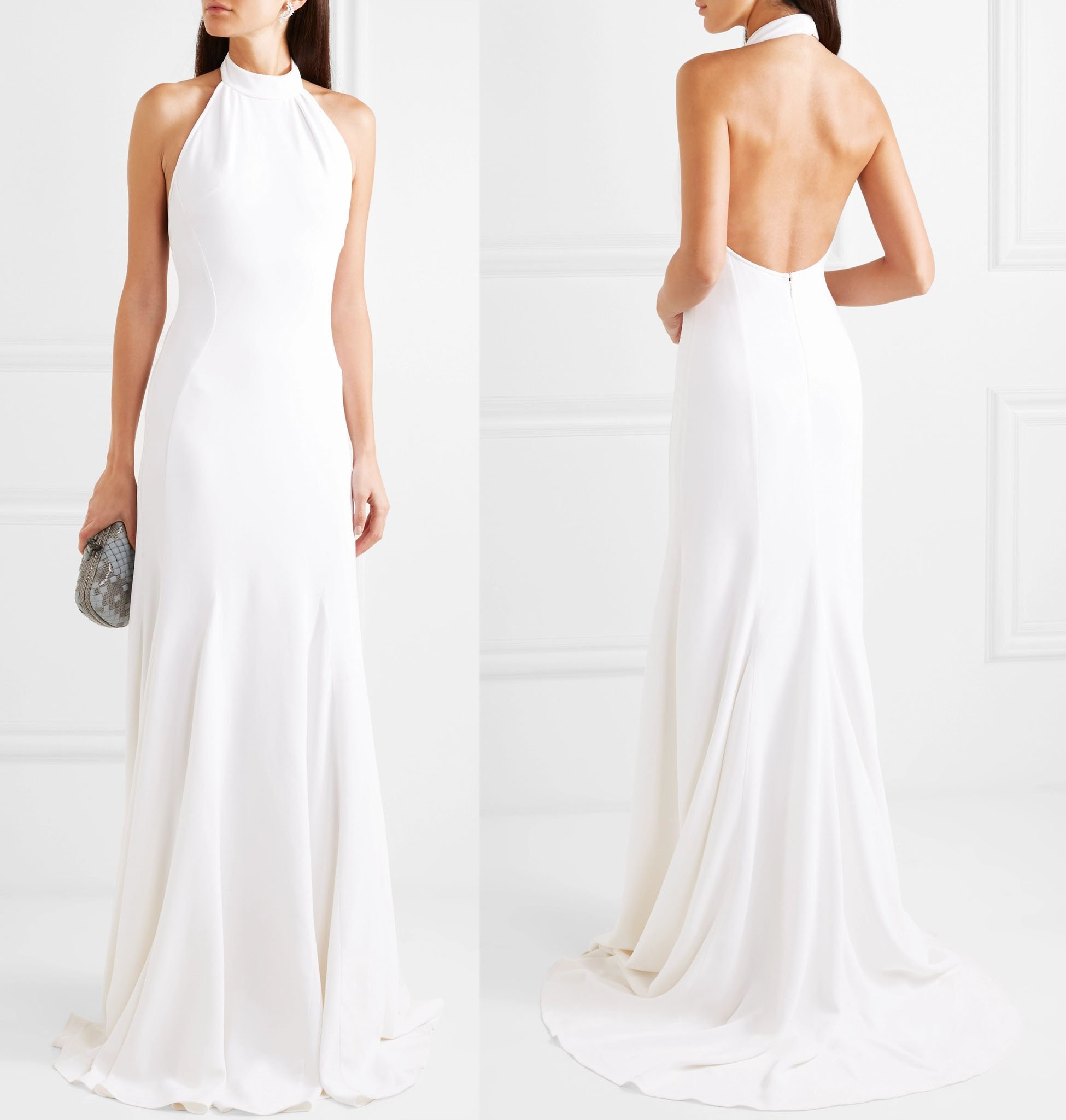 Meghan Markle's Stella McCartney white stretch-crepe halterneck wedding reception dress has been made available to the public for $5,200