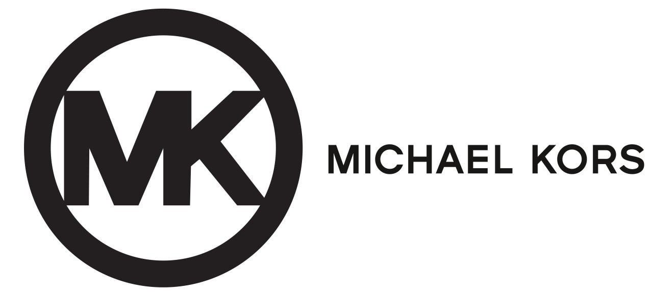 Michael Kors' original circular logo with MK monogram inside was introduced in 1981, while the wordmark monochrome logo was first seen in 2006