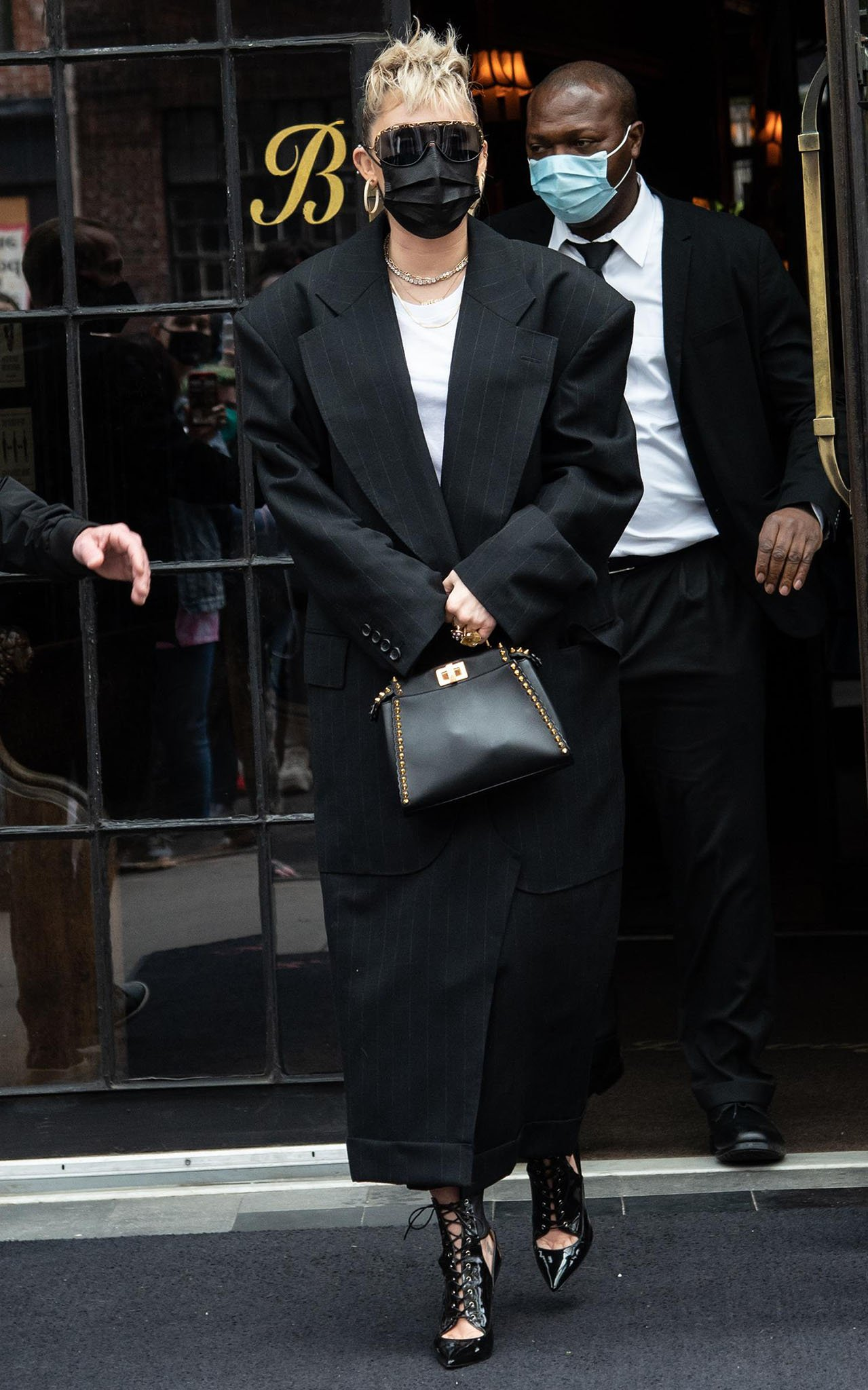 Miley Cyrus leaving The Bowery Hotel for her SNL Performance on May 8, 2021