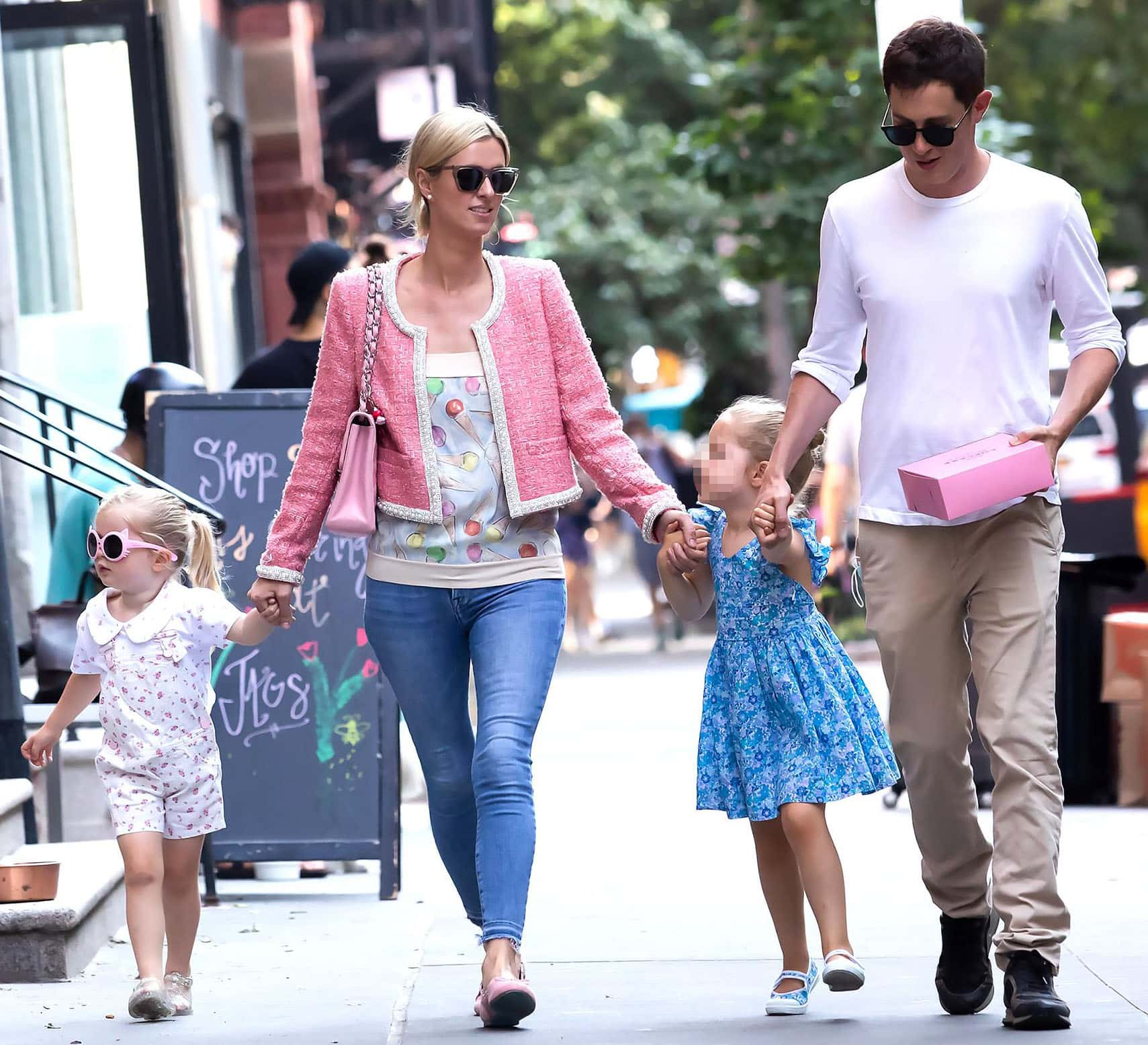 Nicky Hilton and James Rothschild head to Little Cupcakes Bakeshop with their kids Lily-Grace and Teddy