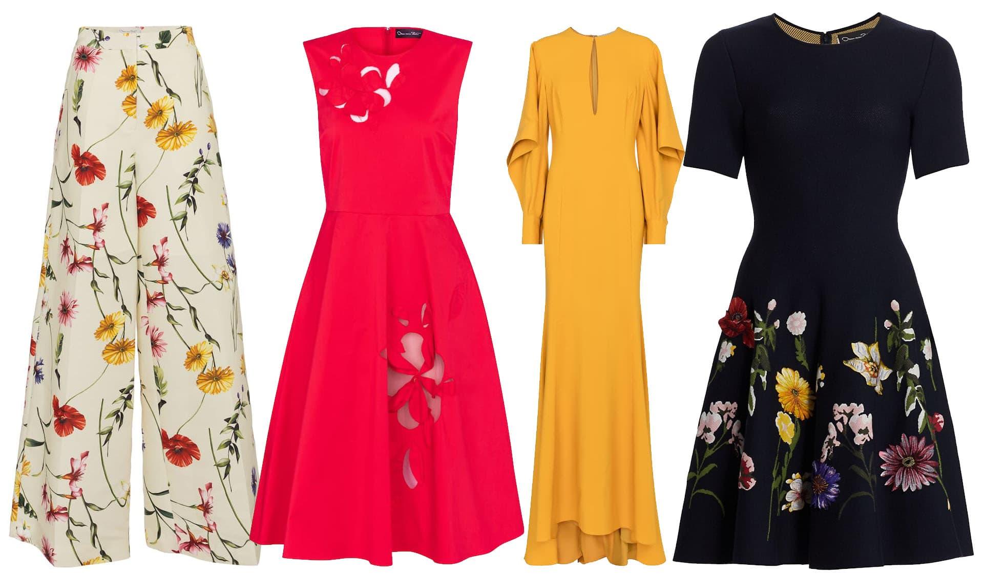 Oscar de la Renta is known for his elegant feminine designs