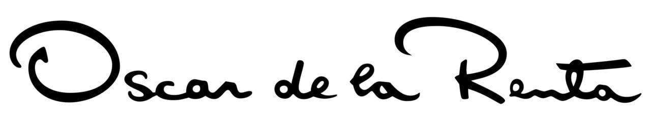 Signature logo design by Oscar de la Renta
