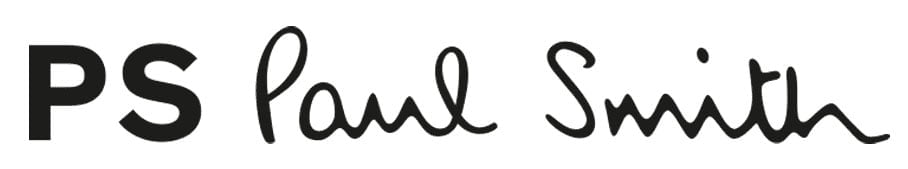 Named after its founder and designer, Paul Smith's highly recognizable logo features his elegant signature
