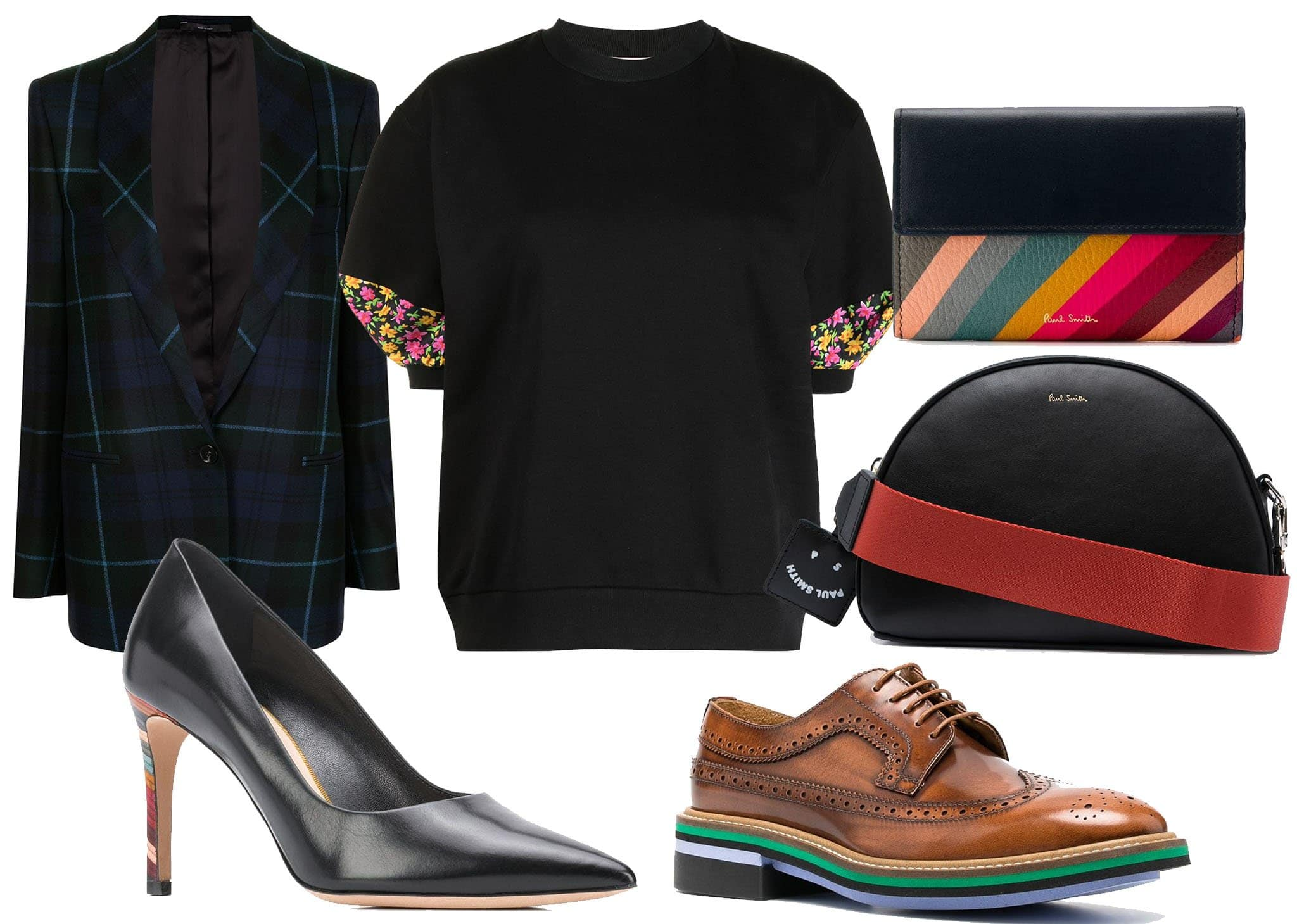 Paul Smith offers clothes, shoes, and accessories